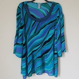 Catherines Multicolored Blouse Sz. 4X